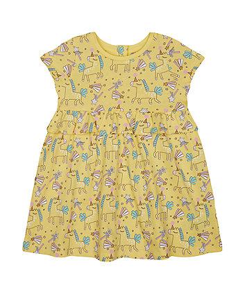 Mothercare Fashion Yellow Unicorn Dress