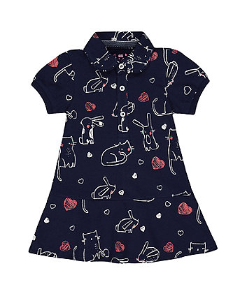 Mothercare Bunny Pique Polo Dress