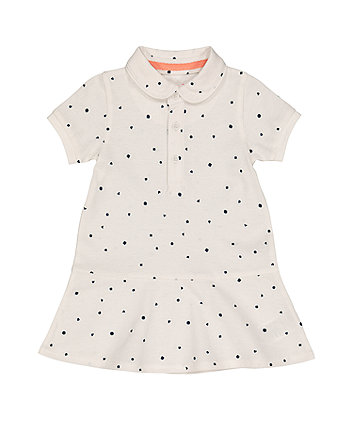 Mothercare Cream Pique Polo Dress