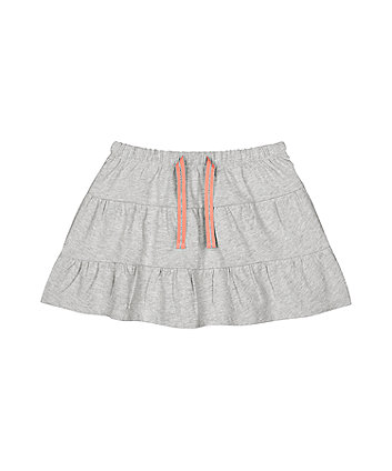 Mothercare Grey Marl Tiered Skirt