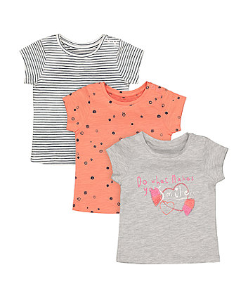 Mothercare Smile T-Shirts - 3 Pack