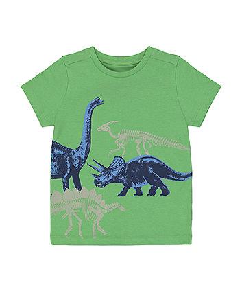 Mothercare Fashion Green Dinosaur T-Shirt