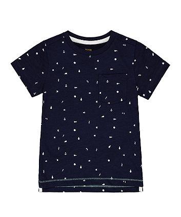 Mothercare Navy Printed T-Shirt
