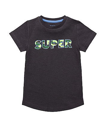 Mothercare Black Glow-In-The-Dark Super T-Shirt