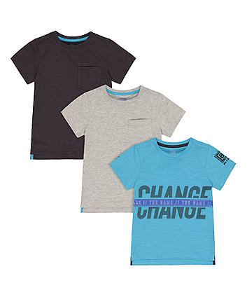 Mothercare Change The Game T-Shirts - 3 Pack