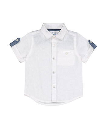 Mothercare White Cotton Linen Shirt