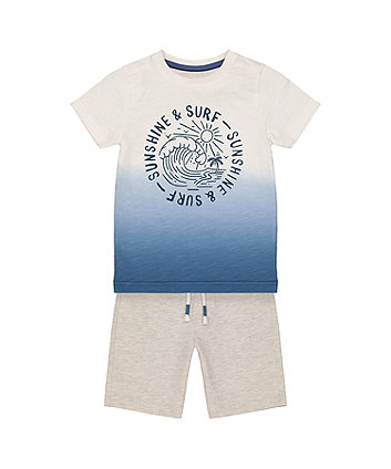Mothercare Fashion Sunshine And Surf T-Shirt And Shorts Set