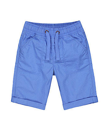 Mothercare Blue Poplin Shorts
