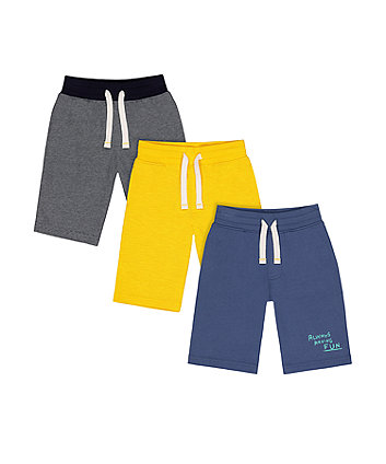 Mothercare Having Fun Shorts - 3 Pack