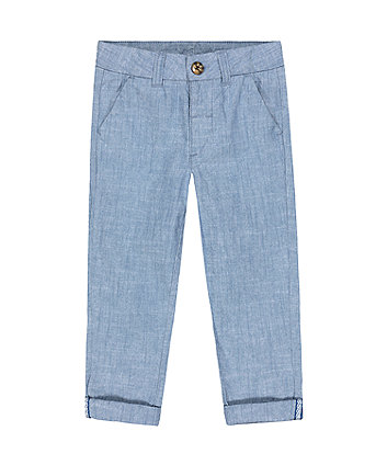 Mothercare Fashion Chambray Chino Trousers