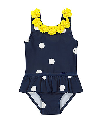 Mothercare Navy Spot Swimsuit