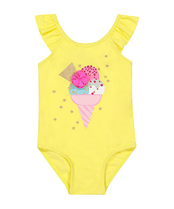 Mothercare Yellow Ice Cream Swimsuit