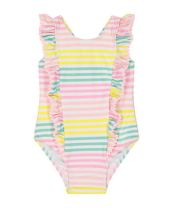 Mothercare Pastel Multicolour Stripe Swimsuit