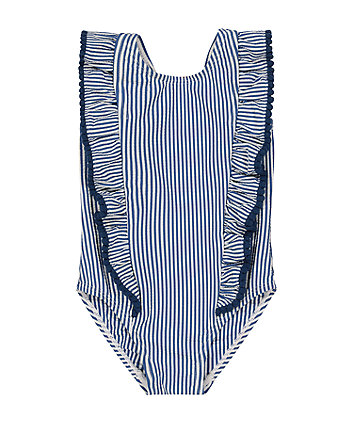 Mothercare Blue Striped Swimsuit