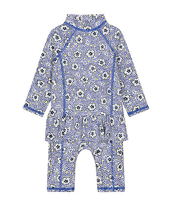 Mothercare Floral Sun Safe Suit