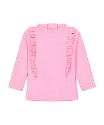 Mothercare Pink Frill Rash Vest
