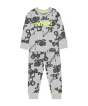 Mothercare Grey Awesome Vehicle Pyjamas