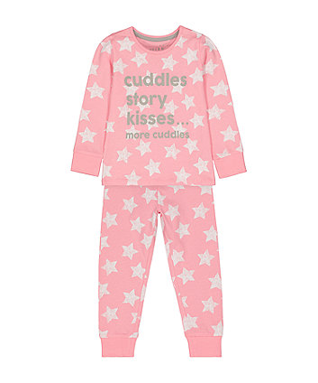 Mothercare Pink Cuddle Star Pyjamas