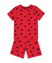 Mothercare Red Dinosaur Shortie Pyjamas