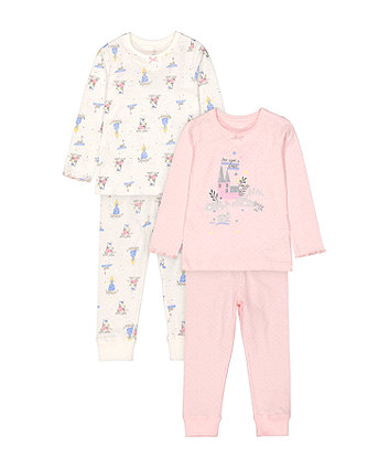 Mothercare Fashion Once Upon A Dream Fairytale Pyjamas - 2 Pack