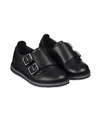 Mothercare Black Monk Shoes