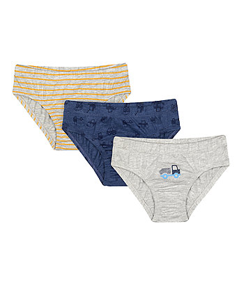 Mothercare Fashion Tractor Briefs - 5 Pack