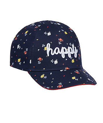 Mothercare Navy Floral Cap