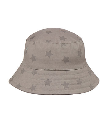 Mothercare Khaki Star Fisherman Sun Hat