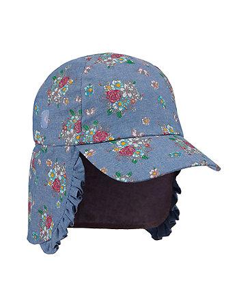 Mothercare Fashion Floral Chambray Sun-Safe Keppi Hat