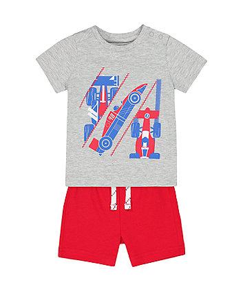 Mothercare Racing Car T-Shirt And Shorts Set