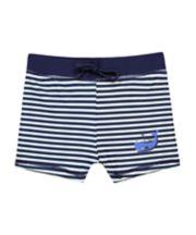 Mothercare Navy Striped Trunkie Swim Shorts
