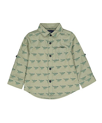 Mothercare Green Dinosaur Shirt
