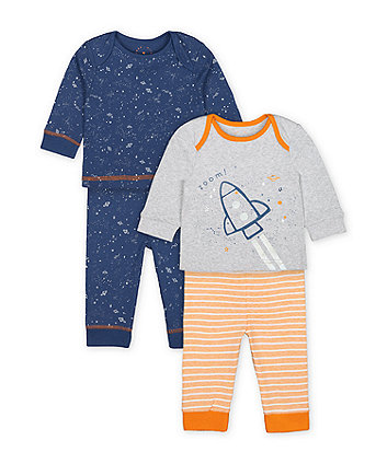 Mothercare Fashion Space Rocket Pyjamas - 2 Pack