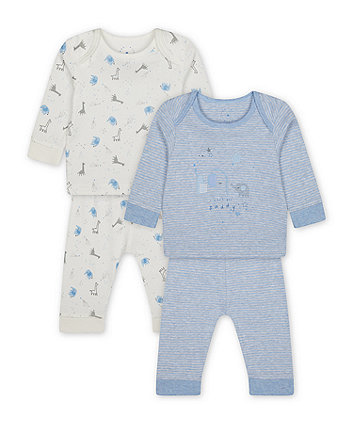 Mothercare My First Little Elephant Pyjamas - 2 Pack