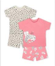 Mothercare Fashion Leopard Shortie Pyjamas - 2 Pack