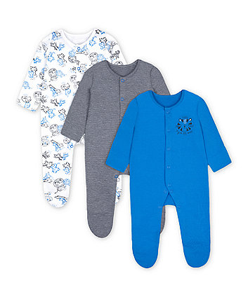 Mothercare Fashion Wild One Sleepsuits - 3 Pack