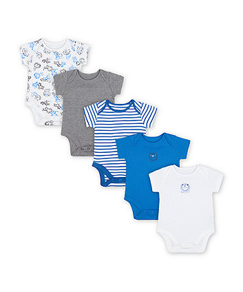 Mothercare Fashion Wild One Bodysuits - 5 Pack
