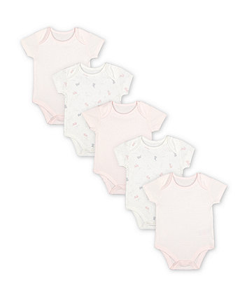 Mothercare My First Bunny Bodysuits - 5 Pack
