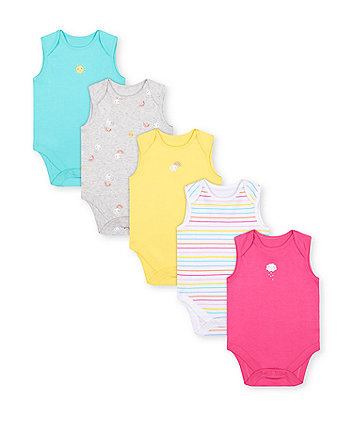 Mothercare Fashion Sunshine Bodysuits - 5 Pack