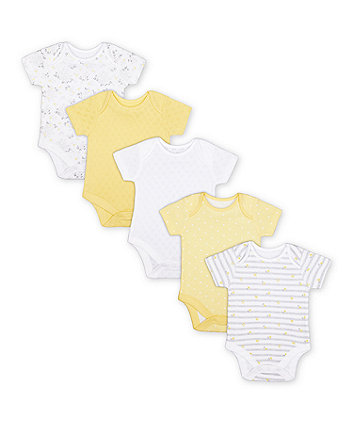 Mothercare Floral Bodysuits - 5 Pack