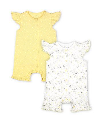 Mothercare Fashion Floral Rompers - 2 Pack