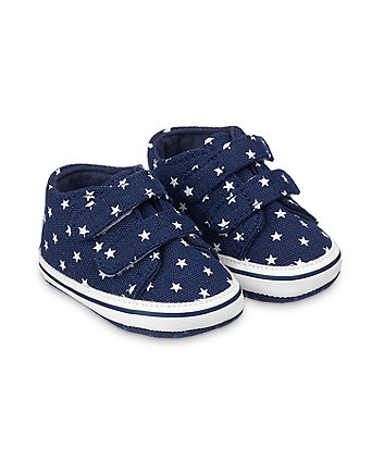 Mothercare Star Canvas Pram Trainers