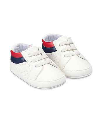 Mothercare White Pram Trainers