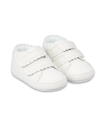 Mothercare White Canvas Pram Shoes