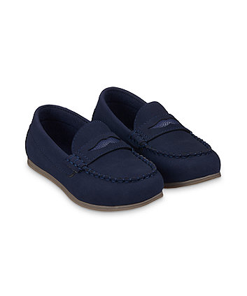 Mothercare Navy Loafer Shoes