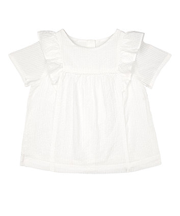 Mothercare White Woven Blouse