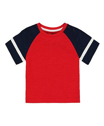 Mothercare Red Raglan T-Shirt