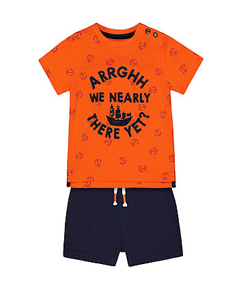 Mothercare Arrghh We Nearly There T-Shirt And Shorts Set