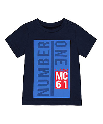 Mothercare Navy Number One T-Shirt
