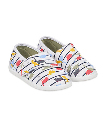 Mothercare Dino Canvas Pumps